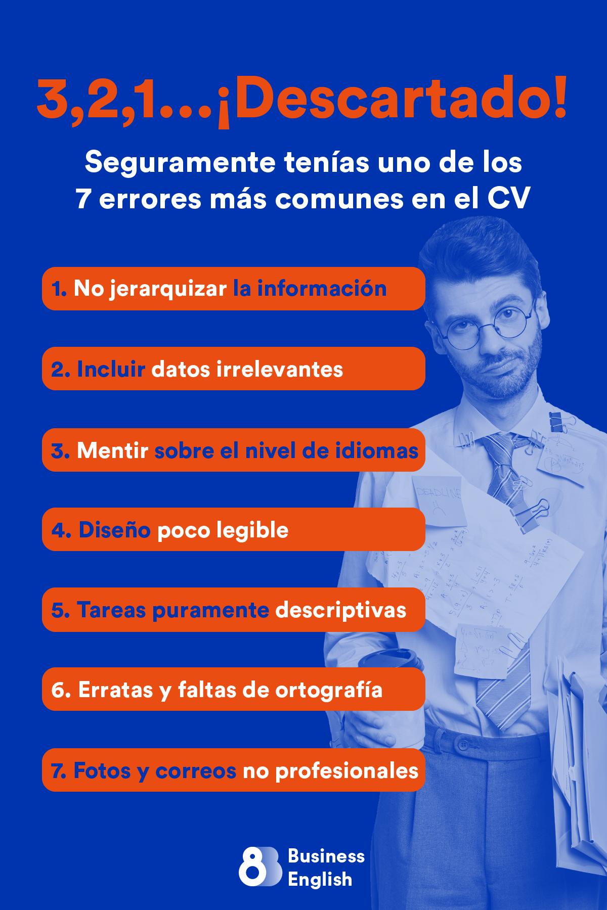 Errores más comunes en el CV