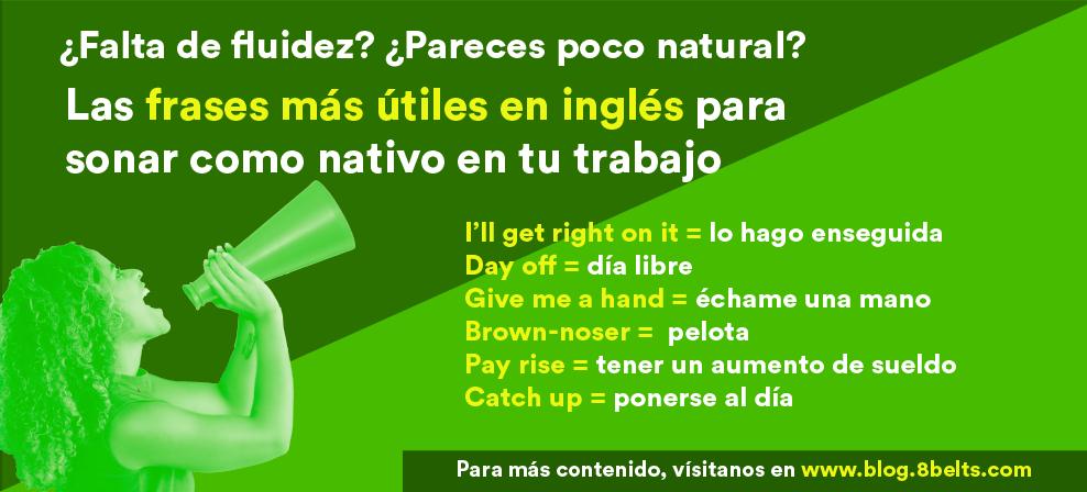 Frases útiles en inglés para el trabajo